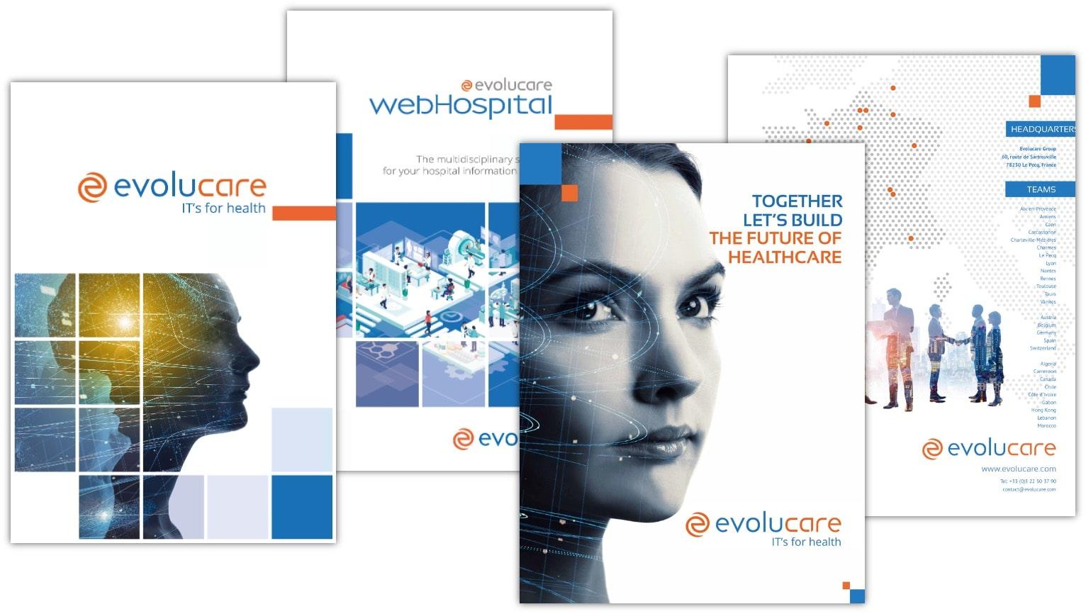 RB2 a réalisé plusieurs dizaines de brochures pour le Groupe Evolucare