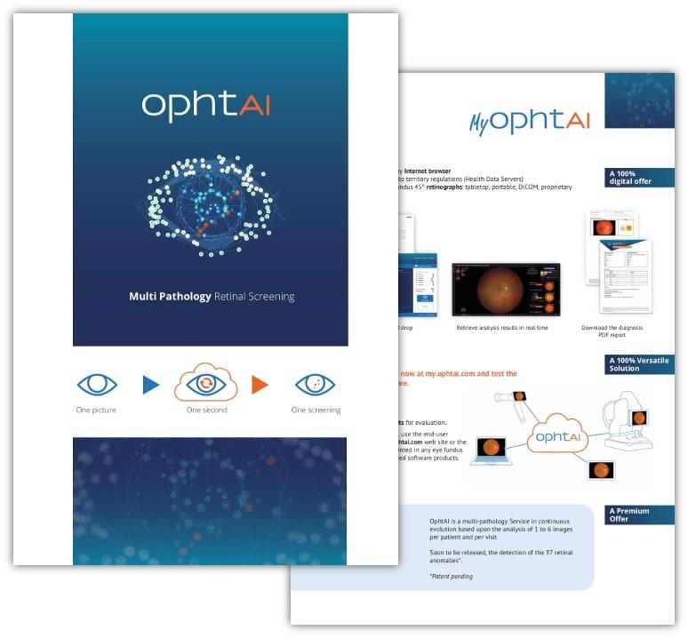 Brochure pour une solution d'IA médicale Ophtai
