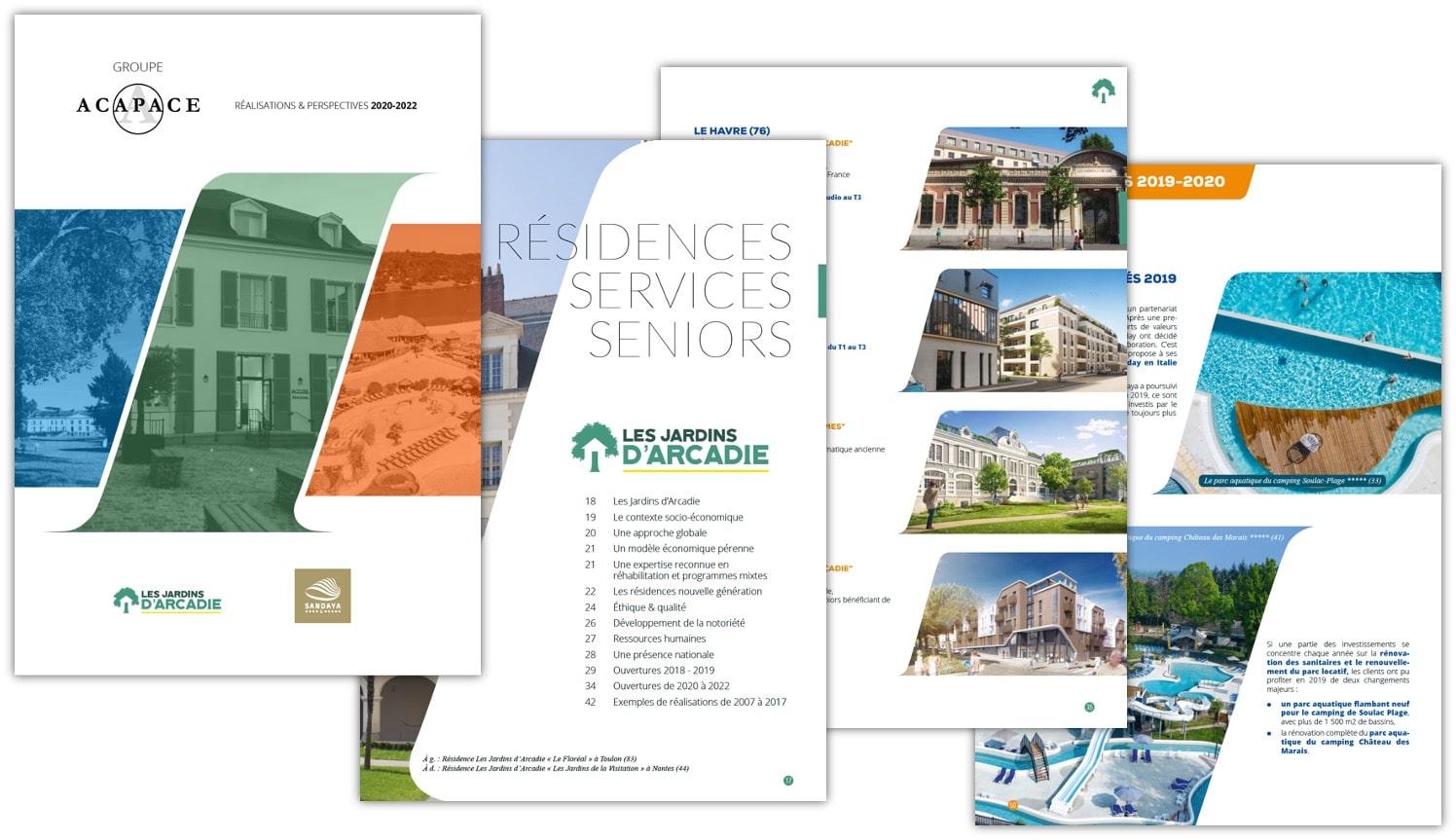 Création de catalogue 80 pages pour ACAPACE / SANDAYA