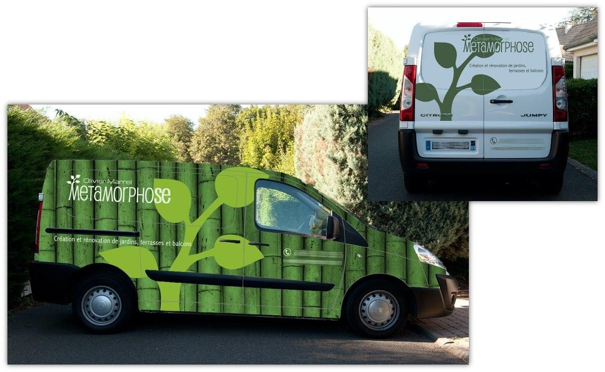 Full Covering de véhicule pour le paysagiste Metamorphose
