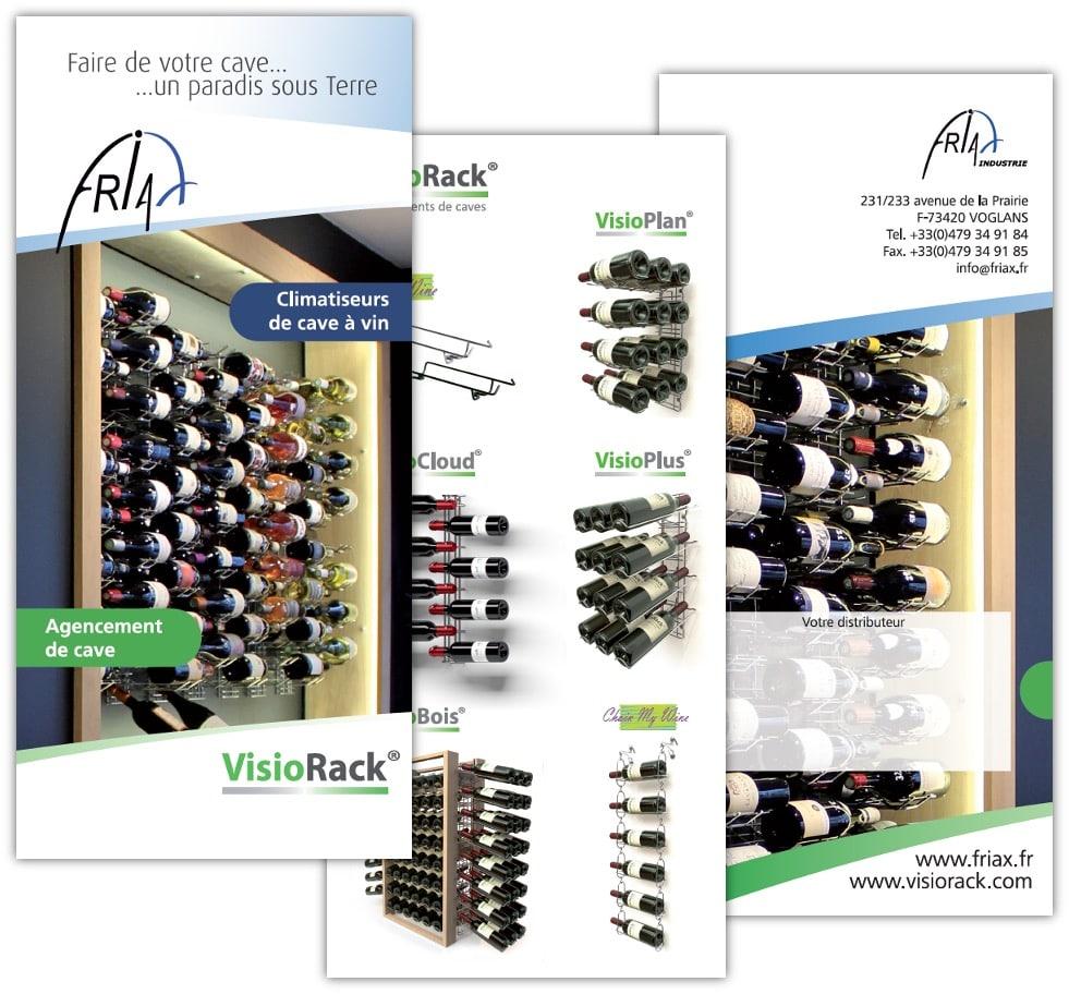 Flyer 3 volets / 6 pages pour Friax / Visorack