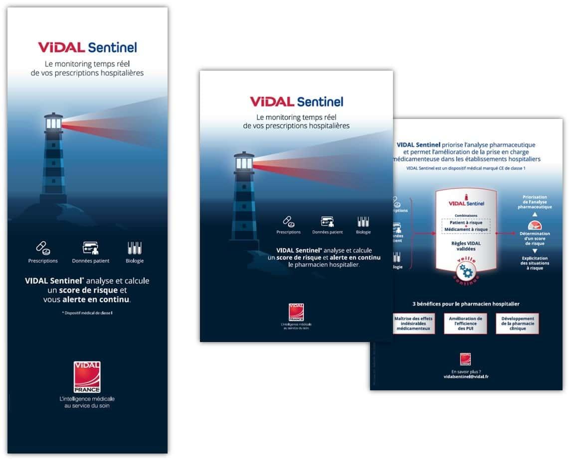 Dispositif publicitaire pour VIDAL