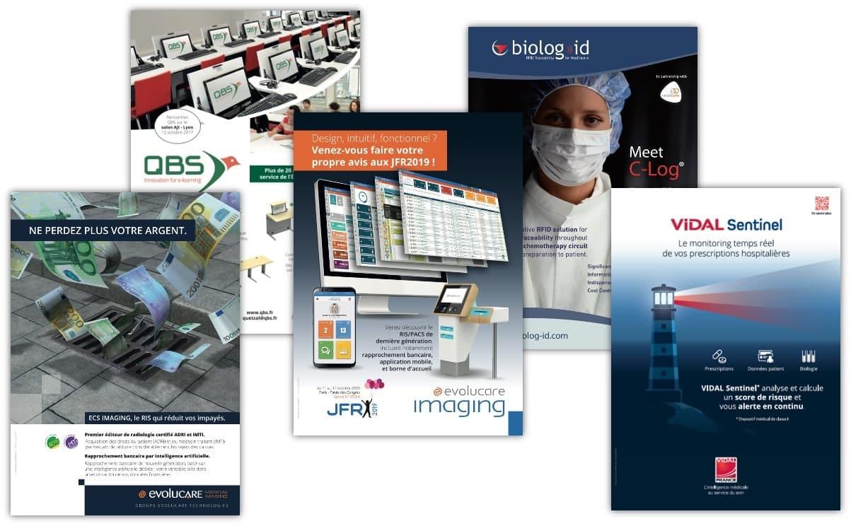 Nombreuses publicités depuis 2010 (presse médicale)
