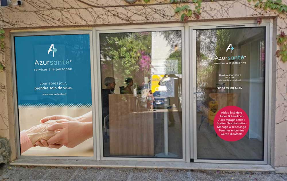 Conception vitrine aide à domicile